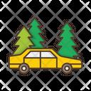 Forest Roadside Car Icon