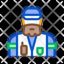 Forester Man Lumberjack Icon