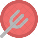 Fork Plate Eating Icon