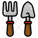 Fork Gardening Tools Icon
