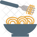 Fork Plate Noodles Icon