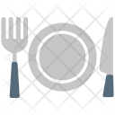 Fork Knife Plate Icon