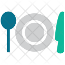 Fork Spoon Plate Icon