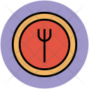 Fork Plate Tableware Icon