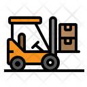Fork Lift Delivery Icon