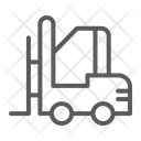 Forklift Warehouse Shipping Icon