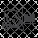Forklift Truck Cargo Icon