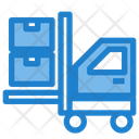 Product Delivery Forklift Lifting Box Icon