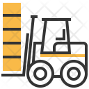 Forklift Vehicle Heavy Icon