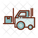 Forklift Delivery Vehicle Transportation Icon