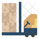 Forklift Supply Supply Chain Icon