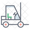 Fork Hoist Fork Truck Delivery Lifter Icon