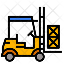 Forklift Logistic Transport Icon