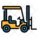 Forklift Lift Truck Vehicle Icon