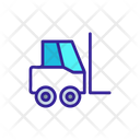 Forklift Cargo Linear Icon