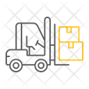Forklift Truck Logistic Icon