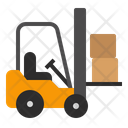 Forklift Transportation Package Icon