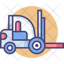 Forklift Small Crane Transport Icon