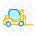 Forklift Car Color Icon