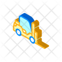 Forklift Car Isometric Icon