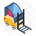 Forklift Delivery Lifter Forklift Truck Icon