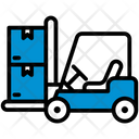 Forklift Logistic Package Icon