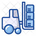 Forklift Logistic Vehicle Icon