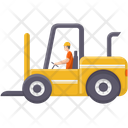Forklift Carrier Cargo Icon