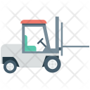 Forklift Truck Courier Icon