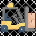 Forklift Car Bring A Box Icon
