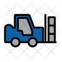 Cargo Delivery Forklift Icon