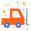 Forklift Truck Lifter Delivery Lifter Icon