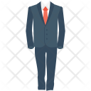 Coat Suit Formal Icon