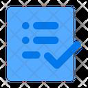 Forms Document Checklist Icon