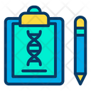 Genetic Report Genetic Research Report Genetic Research Formula Icon