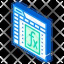 Formula Function Electronic Icon