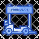 Formula One Racing Car F Car Icon