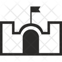 Fort Fortress Flag Icon