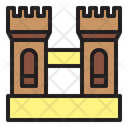 Fortress Castle Building Icon