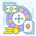 Fortune Wheel Roulette Gambling Icon