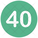 Forty Number Icon