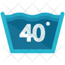 Forty Degrees Sign Icon