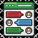Forum Chatting Communication Icon