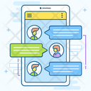 Online Chat Room Mobile Messaging Mobile Communication Icon