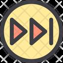 Fast Forward Seek Button Media Player Icon