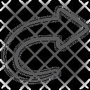 Forward Transfer Right Side Arrowhead Icon