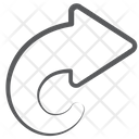 Forward Arrowhead Direction Arrow Icon
