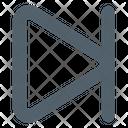 Forward Skip Multimedia Icon