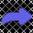 Forward Right Arrow Icon