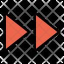 Fast Forward Multimedia Icon